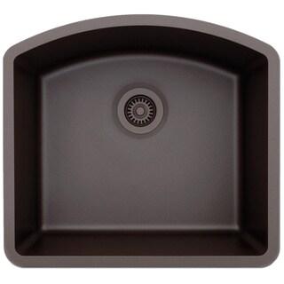 Lexicon Platinum D-shaped Single Bowl Quartz Composite Kitchen Sink (5 options available)