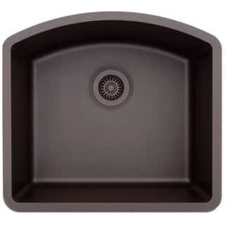 Square kitchen sinks for less overstock lexicon platinum d shaped single bowl quartz composite kitchen sink workwithnaturefo