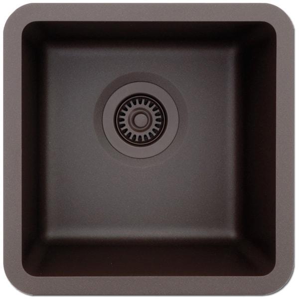 Great Lexicon Platinum Small Single Bowl Quartz Composite Kitchen Sink