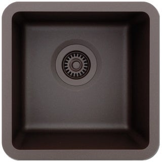 Lexicon Platinum Small Single Bowl Quartz Composite 15 x 15 x 7-1/2 D Kitchen Sink