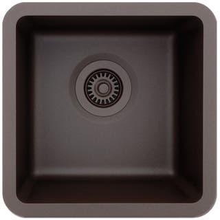 Lexicon Platinum Small Single Bowl Quartz Composite Kitchen Sink