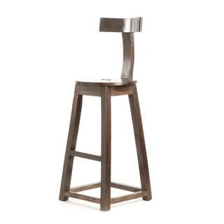 "Hip Vintage 30"" Rustic Wooden Barstool"