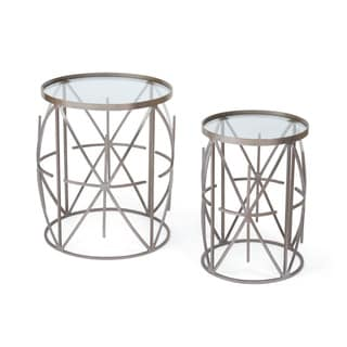 Hip Vintage Charlton Glass Top Tables