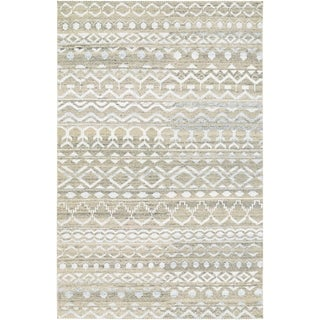 Hand-Knotted Couristan Casbah Purnia/Natural-Cream Undyed Wool Rug (3'5 x 5'5)