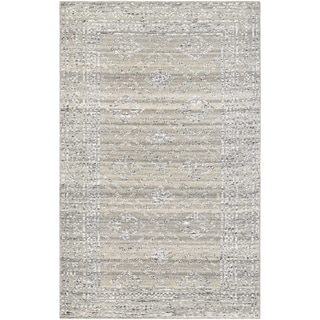 Couristan Casbah Sirsi/Grey-Natural Wool Area Rug - 3'5 x 5'5