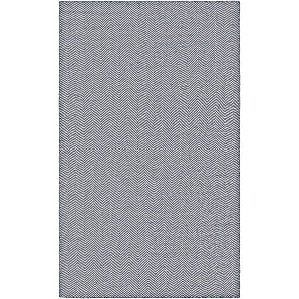 Hand-Woven Villa Chevron Navy Indoor/Outdoor Area Rug - 3' x 5'