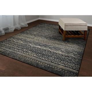 Couristan Easton Capella/Black-Grey Area Rug - 3'11 x 5'3