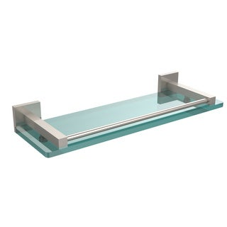 """Allied Brass Montero Collection 16-inch Glass Shelf with Gallery Rail - 16"""""""