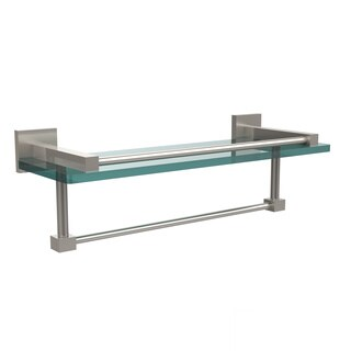 Allied Brass Montero Collection 16-inch Gallery Glass Shelf with Towel Bar