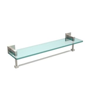 Allied Brass Montero Collection 22-inch Glass Vanity Shelf with Integrated Towel Bar