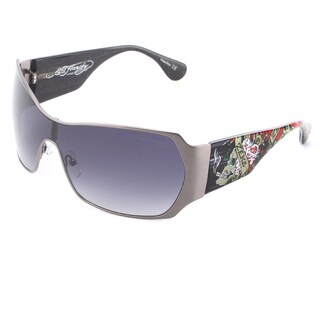 Ed Hardy EHSBRADII Matte Gunmetal Sunglasses