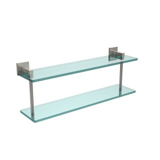 Allied Brass Montero Collection 22-inch Two-tiered Glass Shelf