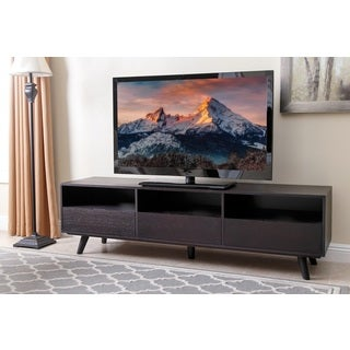 Hampton 70 Inch Espresso Wood Entertainment Center