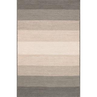 Indoor/ Outdoor Braided Neutral Rug (5'0 x 7'6)
