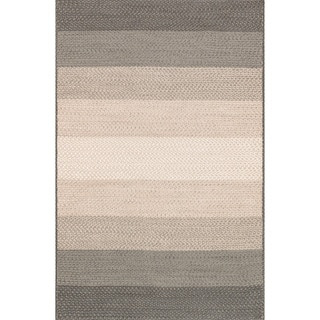 Indoor/ Outdoor Braided Neutral Rug (7'9 x 9'9)