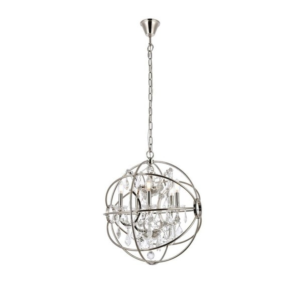 Somette Durham Collection Polished Nickel Gyro Pendant Lamp. Opens flyout.