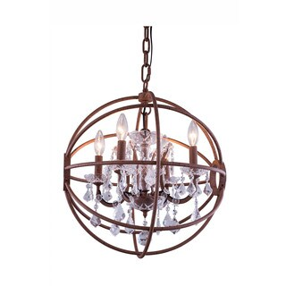 Bombay Durham Collection Rustic Intent Gyro Pendant Lamp