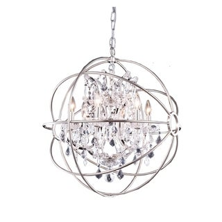 Somette Durham Collection Polished Nickel Gyro Pendant Lamp