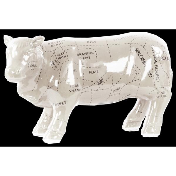 Ceramic Beef Cut Chart Figurine