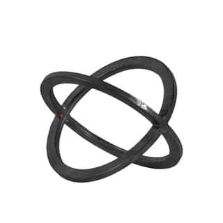 Small Metallic Black Finish Metal Orb Dyson Sphere Design (2 Circles)