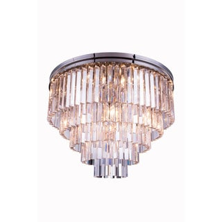 Bombay Perth Collection Grand Crystal Flush Mount Ceiling Lamp