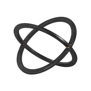 Metallic Black Finish Metal Dyson Sphere Orb Design