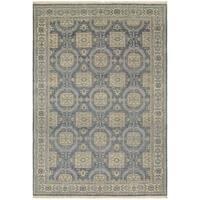 Couristan Tenali Hapur/Steel Blue Wool Area Rug - 5'6 x 8'9