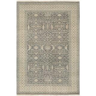 Couristan Tenali Bijnor/Slate Wool Area Rug - 5'6 x 8'9