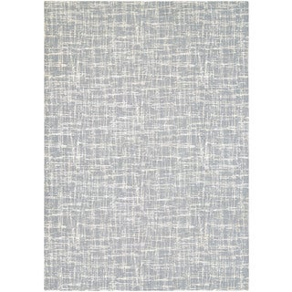 Power-Loomed Couristan Landmark Jax/Ice Wool and Acrylic with Viscose Rug (5'3 x 7'6)