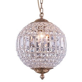 Bombay Winsted Collection Crystal Globe Pendant Lamp