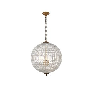 Somette Winsted Collection Crystal Globe Pendant Lamp