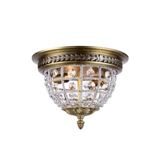 Bombay Winsted Collection Crystal Trellis Flush Mount Ceiling Lamp