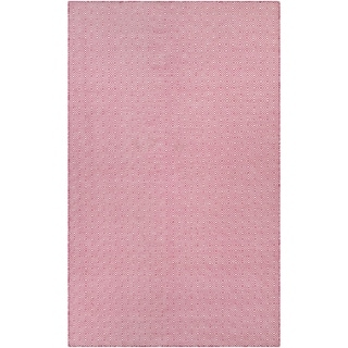 Hand-Woven Couristan Cottages Manhasset/Pink Indoor/Outdoor PET High Content Recycled Materials Rug (5' x 8')
