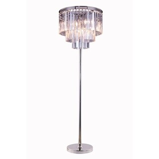 Somette Perth Collection Grand Crystal 63-inch Floor Lamp
