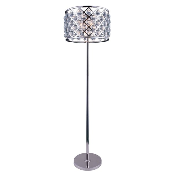 Somette Allston Collection Crystal Trellis 72-inch Floor Lamp