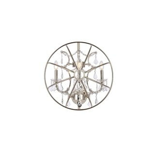 Somette Durham Collection Polished Nickel Gyro Wall Sconce