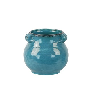 Ceramic Round Bellied Tuscan Pot with Handles