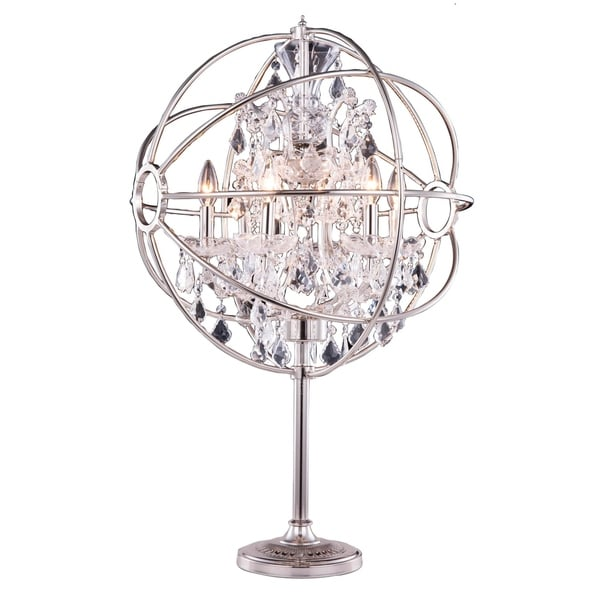 Bombay™ Durham Collection Polished Nickel Gyro 34-inch Table Lamp
