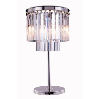 Somette Perth Collection Grand Crystal 26-inch Table Lamp