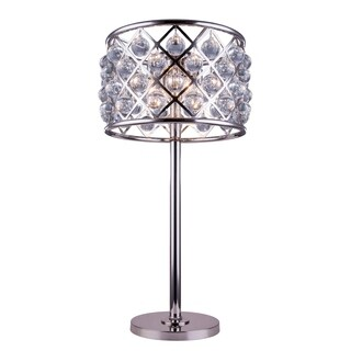 Somette Allston Collection Crystal Trellis 32-inch Table Lamp