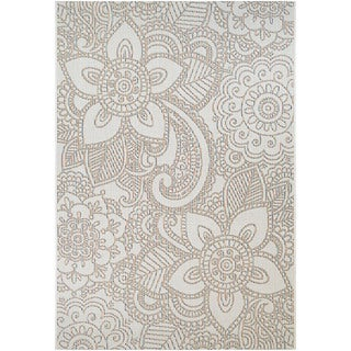 Power-Loomed Couristan Riverside Skylands/Sand-Multi Indoor/Outdoor Rug (7'10 x 10'9)