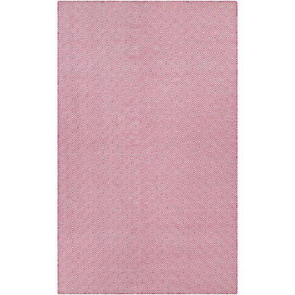 Hand-Woven Villa Diamonds Pink Indoor/Outdoor Area Rug - 8' x 10'