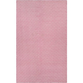 Hand-Woven Couristan Cottages Manhasset/Pink Indoor/Outdoor PET High Content Recycled Materials Rug (8' x 10)