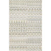 Couristan Casbah Purnia Natural-Cream Hand-Knotted Wool Area Rug - 8' x 11'