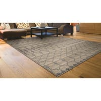 Couristan Casbah Akola Natural-Grey Hand-Knotted Area Wool Rug - 8' x 11'