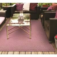Villa Circles Pink Indoor/Outdoor Area Rug - 8' x 10'