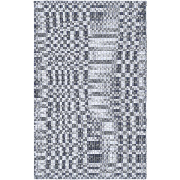 Villa Circles Navy Indoor/Outdoor Area Rug - 8' x 10'