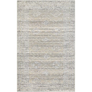 Couristan Casbah Sirsi Grey-Natural Hand-Knotted Wool Area Rug - 8' x 11'