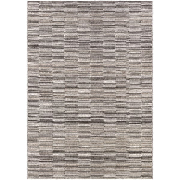 Vector Caswell Silver-Charcoal Indoor/Outdoor Area Rug - 7'10 x 10'9