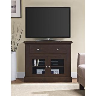Altra Brandywine Antique Cherry 37-inch TV Stand with Glass Doors